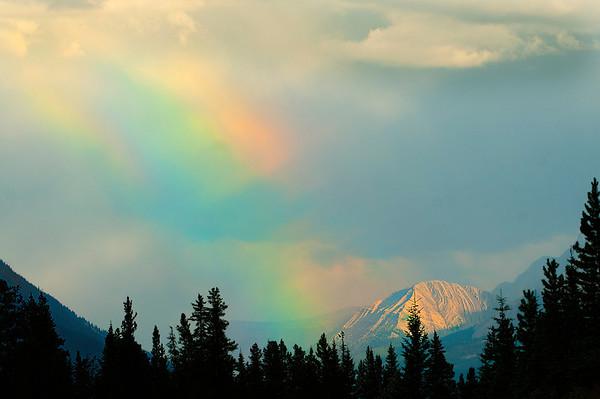 Rainbow in the Saskatchewan River Valley Aug 3, 2008