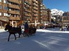 Everything is within easy walking distance, but sleighs are also available to transport people and luggage.