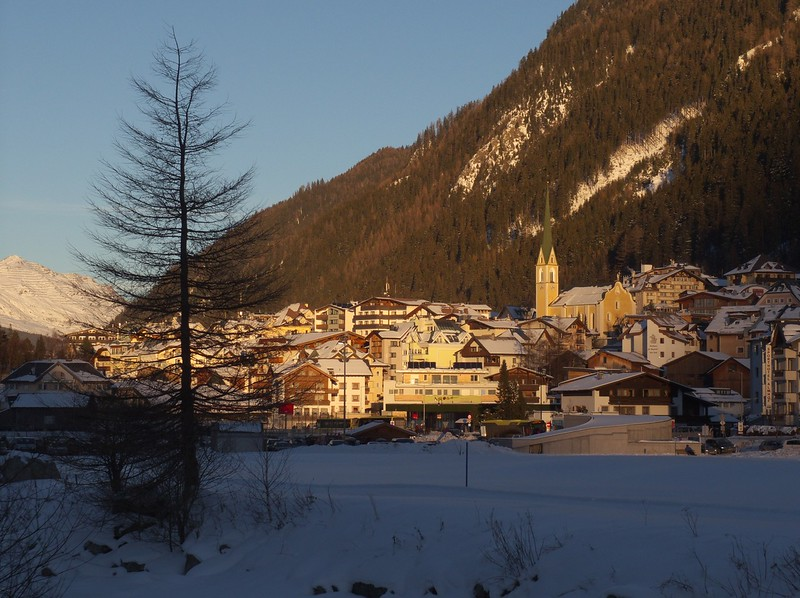 The town of Ischgl is located in a quiet, nondescript valley.