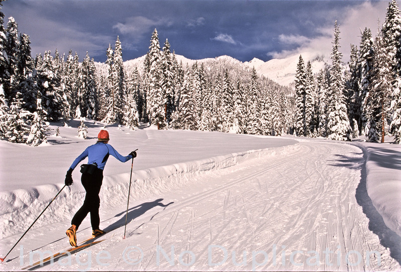 Nordic skier near Galena Lodge