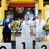 Winnaars vakwedstrijd schilderen, Skills Masters 2013. V.l.n.r: Sharina Kuiper, Arco van der Linden, Niels Koopman