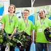 Winnaars vakwedstrijd schoenmaken, Skills Masters 2013. V.l.n.r: Wisse Bijman, Hans Heine, Preveen Kumar Autar.