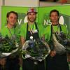 V.l.n.r. Hans Heine - 2e plaats, Colin van der Veen - 1e plaats, Steven Rath - 3e plaats -- NK Schoenmaken