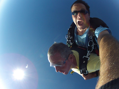 Free fall was one minute before the chute opened.  Seemed like a long time. Such a blast!