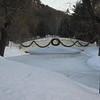 Foot bridge over the skating pond