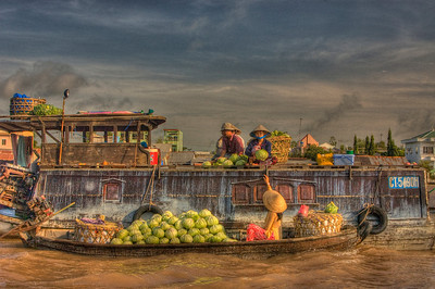 Floating market at Can Tho, Vietnam.