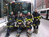 Chicago Fire Department Squad 1 After A Still In A Downtown High Rise.