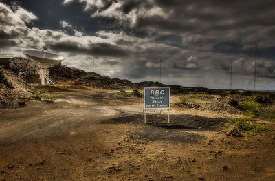 The slightly sinister BBC facility on Ascension Island, South Atlantic Ocean - HDR.