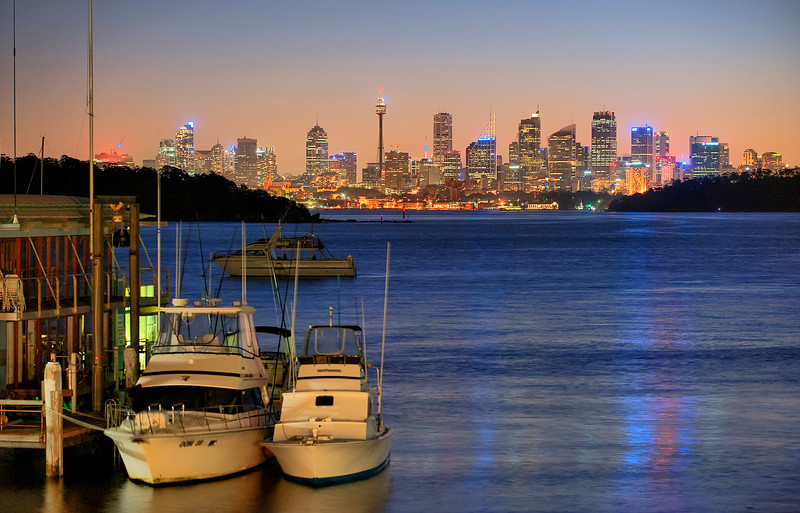 HDR: Sunset, Sydney, Australia from Watson's Bay.