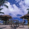 Outdoor terrace, Rarotonga, Cook Islands.