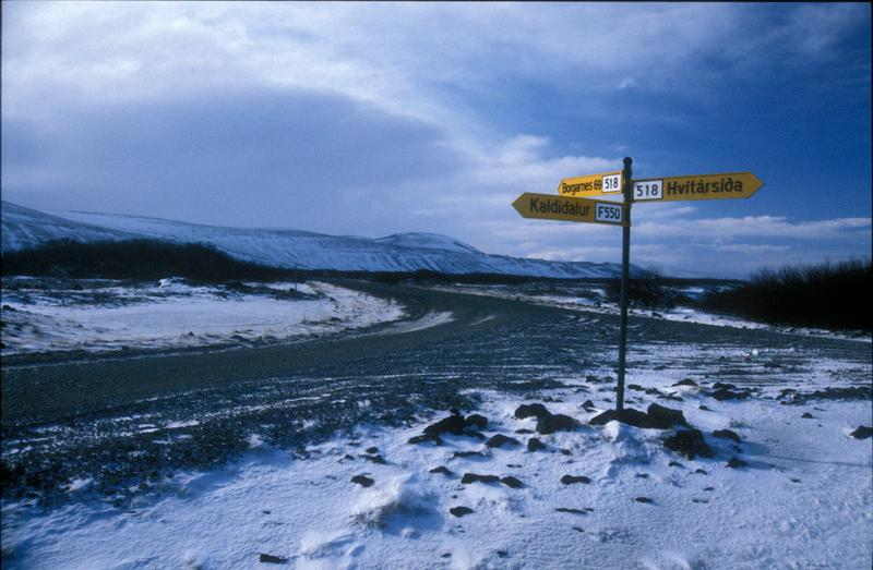 Road sign somewhere in Iceland.