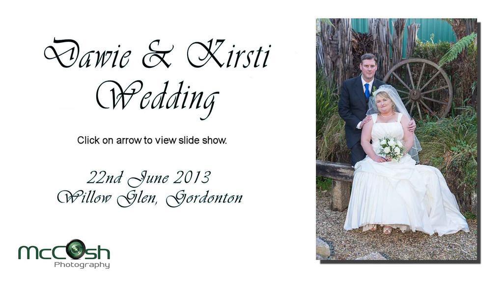 Dawie & Kirsti's Video Wedding Album