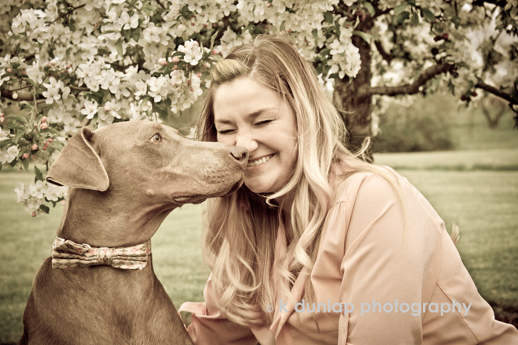 """12.28.13 = Happy Birthday<br /> <br /> I shot this photo of my niece Katie and her dog Hank back in the spring.  It's one of my favorites.  Here's wishing you a very happy birthday Kate! I love you!<br /> <br /> """"No one has ever measured how much a heart can hold or how much it can give away.""""  Aunt Kris"""