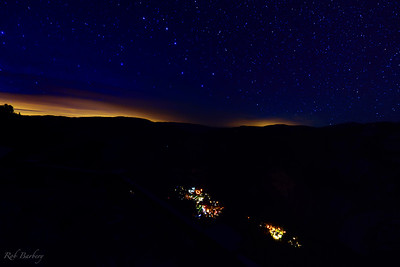 The Big Dipper over Yosemite Village.