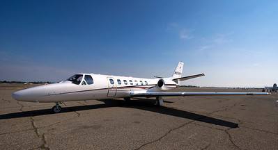 A Cessna 560 private jet.