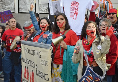 These women, part of the Women's March in Denver, spoke out about murdered and missing Native American women.