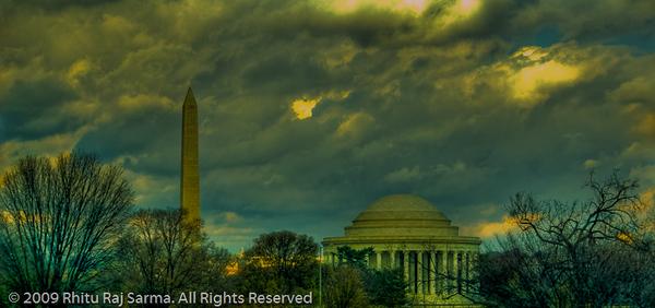Washington & Jefferson Memorial, Washington DC