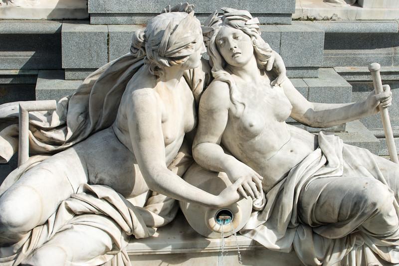 Statues outside the Austrian Parliament Building, Vienna, Austria.