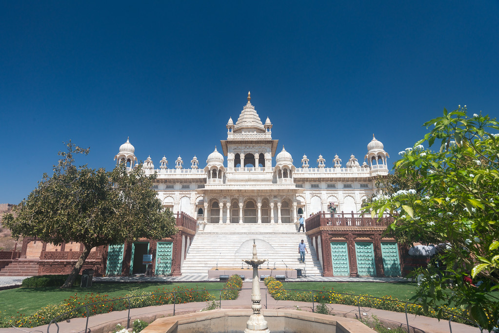 View of the front of Jaswant Thada, Jodhpur, Rajasthan, Western India.