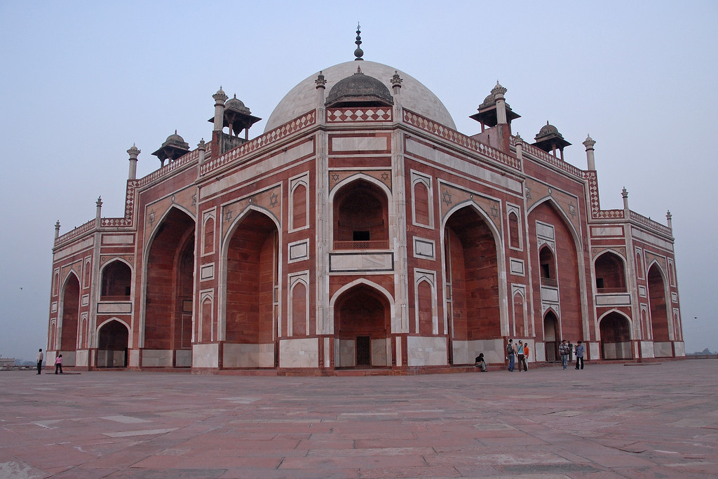 Humanyun's tomb was built (completed) in 1570 on the orders of Hamida Banu Begum who was Humayun's wife. Construction was started in 1562. The tomb is an UNESCO's designated world heritage site. The site is a complex of buildings. This is the first garden-tomb which inspired many architectural innovations.
