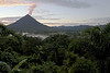 <h2>Arenal Volcano</h2> Costa Rica We were in the Arenal region for a wedding and stayed at the <i>Lost Iguana Resort</i>.  This was the view from our room at sunrise.