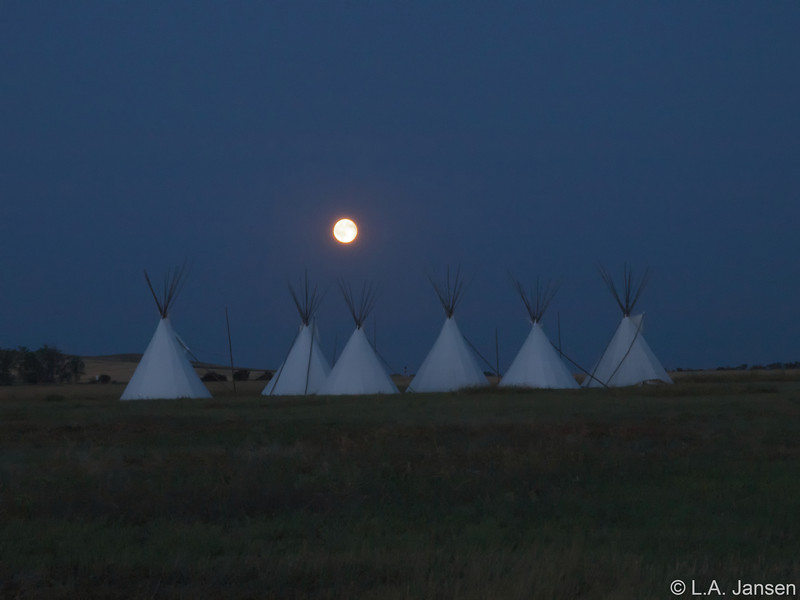 Moonrise over Fort Union National Historical Site