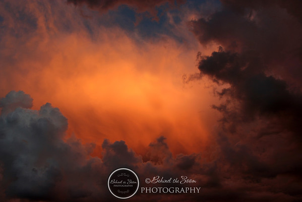 Mix of sunset and AZ desert storm creating beautiful eerie clouds and sky