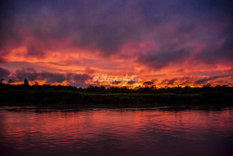 Sunset, Ucayali River, Peru
