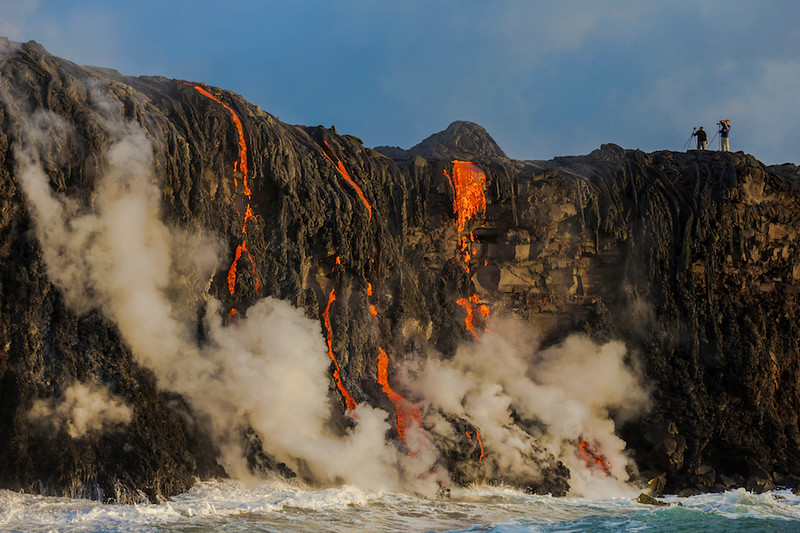 Kilauea Volcano ocean entry, Big Island, Hawaii
