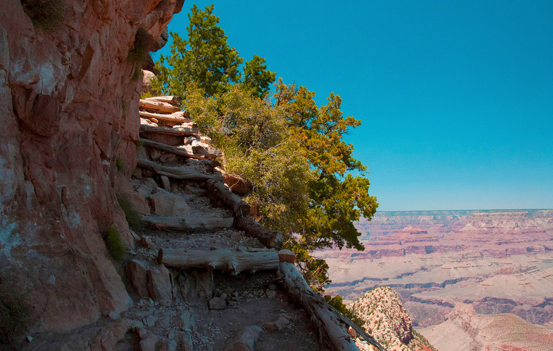 The Grand Canyon can be busy in places, but serenity is easily found with a little exploration. This trail began in a parking lot and had stunning views and not many people. The walk down was really easy, but the walk back up took a little extra.