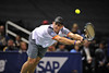 22 February 2008: Andy Roddick of the United States during his SAP Open third round win against Mardy Fish of the United States at the HP Pavilion in San Jose, CA.