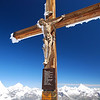 Crucifix on top of Klein Matterhorn....Matterhorn on the left background.