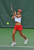 01 February 2008: Hilary Barte during Stanford's 6-1 victory over the UNLV Lady Rebels at the Taube Tennis Stadium in Stanford, CA., ss