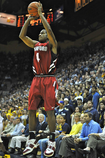 26 January 2008: Anthony Goods during Stanford's 82-77 win over California at the Haas Pavilion in Berkeley, CA.  Photo by Daniel Harris, Stanford Athletics.