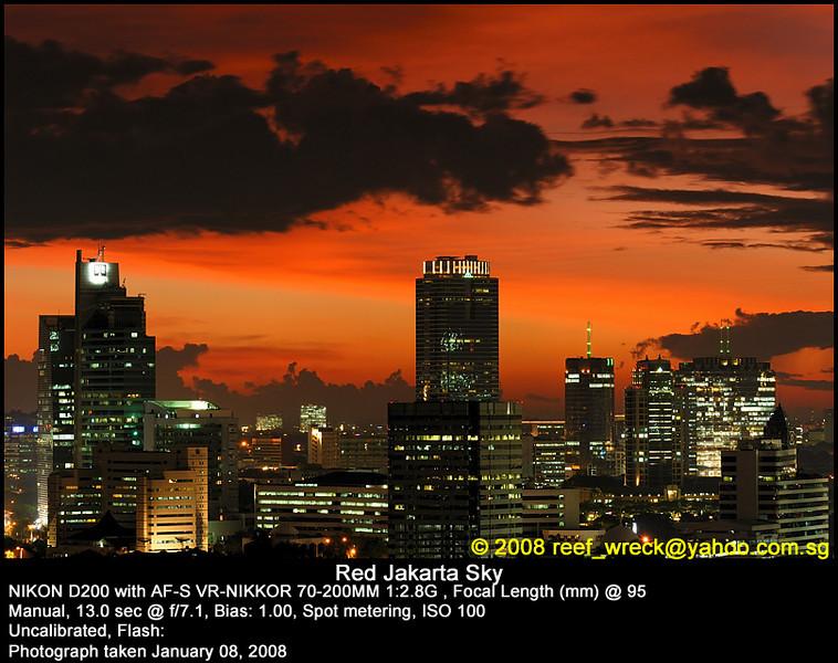 Red skies of Jakarta, 08Jan08.