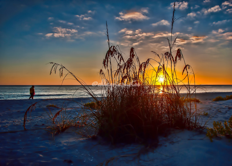 Sunset over the Gulf, Sanibel, Florida