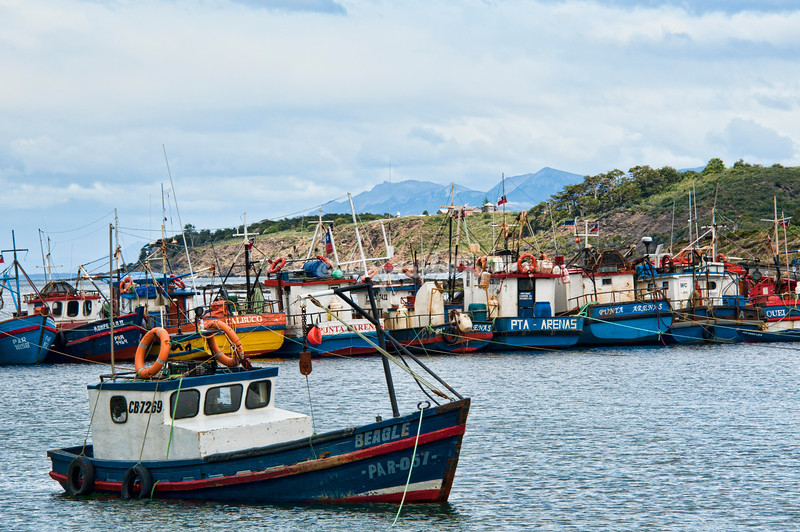 Bahia Mansa fishing village, Patagonia, Chile