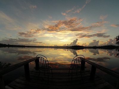 Sunrise off the dock