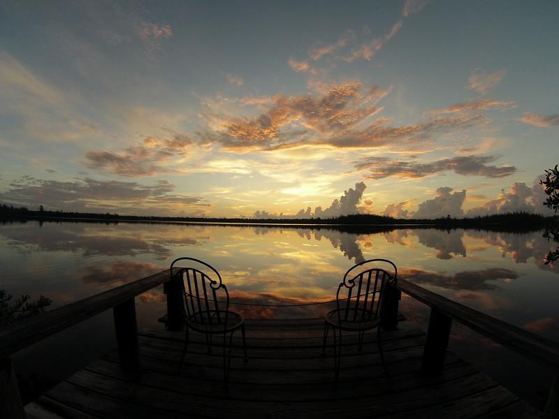 Sunrise off the dock