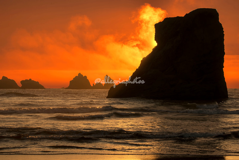 Sunset, Bandon Beach, Oregon