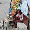 Very friendly lady saying hello as we walked by her home (a makeshift tent along the side of the street in Leogane)