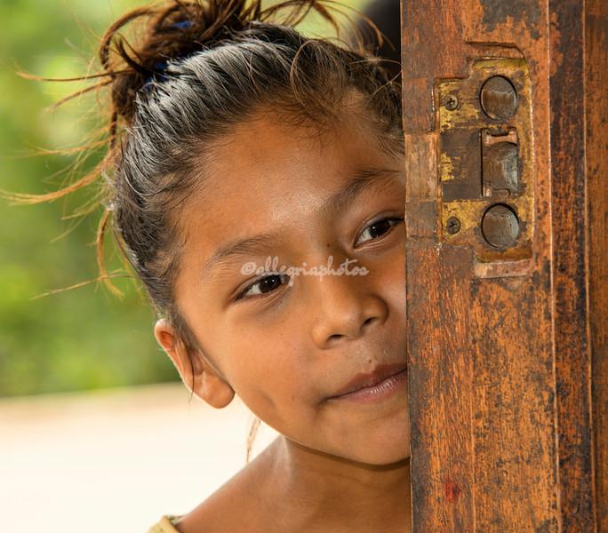 Young girl, Upper Amazon, Peru