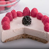 Cheesecake with raspberries and blackberries