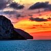 Sunset over Isle of Capri, Italy