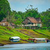 Village on Pacaya River, Upper Amazon, Peru
