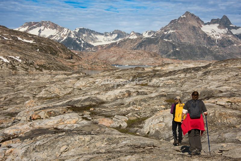 Hiking across Sarpaq Island, Greenland