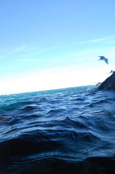 I placed my camera right above the incoming waves and fired away. One of the incoming waves gave part of my camera a bath, but I wiped it off and kept shooting.