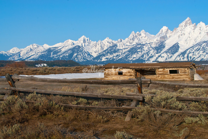 Cunningham's Cabin, Tetons, Wyoming