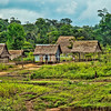 Typical village along the shores of the Amazon River, Upper Amazon, Peru