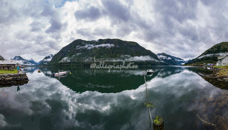 Panoramic view, Fjaerland, Norway
